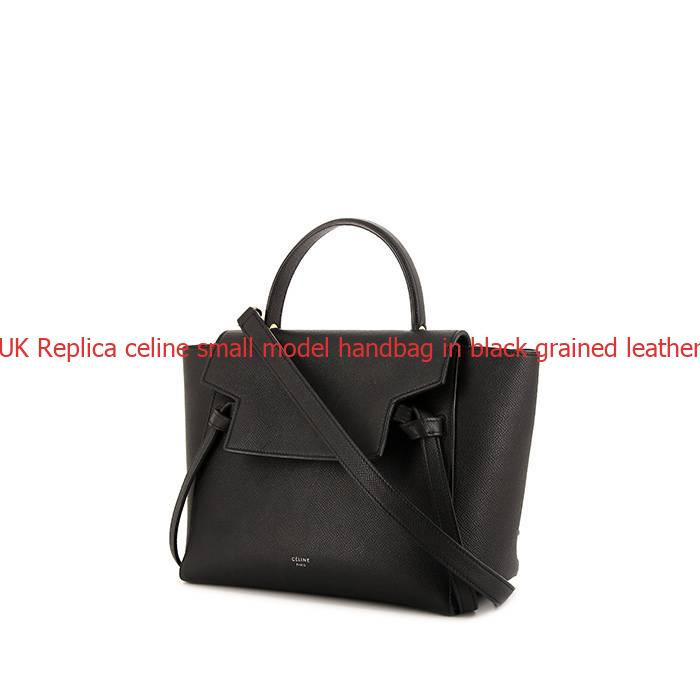 Uk replica celine small model handbag in black grained for Replica mobel england