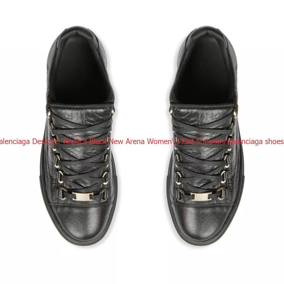 Best Balenciaga Designer Replica Black New Arena Women S Flat Sneakers Balenciaga Shoes Cheap