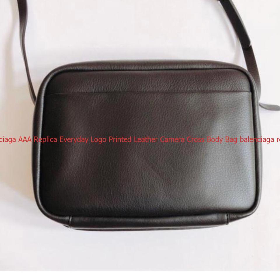 Hot Sale Balenciaga AAA Replica Everyday Logo Printed Leather Camera Cross  Body Bag balenciaga replica bag pink 66883fd242464
