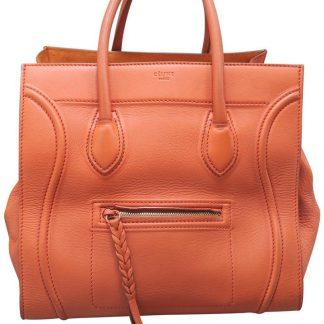 ad783f325f ... Luxury Designer Céline AAA Replica Cabas Phantom Medium Light Oranged  Calfskin Leather Tote celine belt bag ...